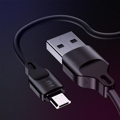 Rock Space Şarj Kablosu Z13 Micro USB 100 cm Siyah