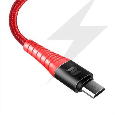 Rock Space Şarj Kablosu Z9 Micro USB Hi-Tensile 120 cm 5V/2A Kırmızı