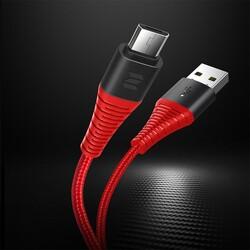 Rock Space Şarj Kablosu Z9 Micro USB Hi-Tensile 120 cm 5V/2A Kırmızı - Thumbnail