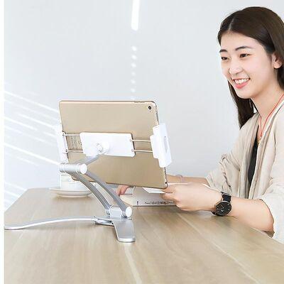 Rock Univrersal Ayarlanabilir Masaüstü Telefon ve Tablet Standı Silver