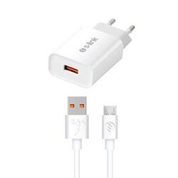S-LİNK - S-link SL-EC13M 3500mA Ev Şarj 18W + 2.4A Micro USB Quick 3.0 Hızlı Şarj Adaptör Seti