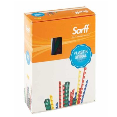 Sarff Plastik Spiral Delux 6 mm Siyah 100 Adet
