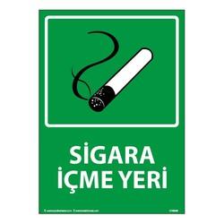 TAROKS - Sigara İçme Yeri Uyarı Levhası 25X35 3mm