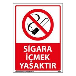 TAROKS - Sigara İçmek Yasaktır Uyarı Levhası 25X35 3mm U01080