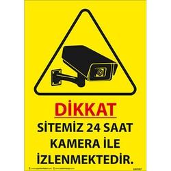 TAROKS - Sitemiz 24 Saat Kamera ile İzlenmektedir Uyarı Levhası U02187
