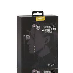 SNOPY - Snopy Kulak İçi Mikrofonlu Bluetooth Kulaklık Gri SN-J7BT