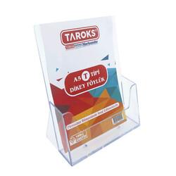 TAROKS - Taroks Masaüstü Broşürlük Ayaklı A5 Dikey Pleksi