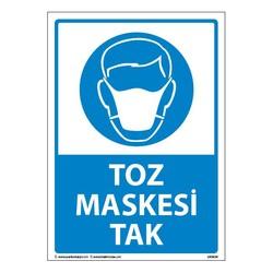 TAROKS - Toz Maskesi Tak Uyarı Levhası 25X35 3mm U03034
