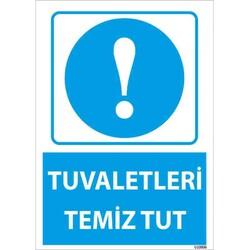 TAROKS - Tuvaletleri Temiz Tut Uyarı Levhası U10006