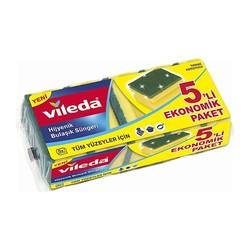 VILEDA - Vileda Bulaşık Süngeri Oluklu 5 li Ekonomik Paket